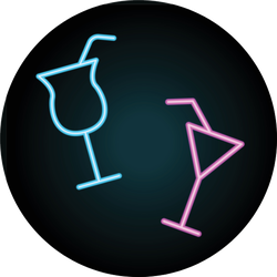 Cocktails Neon Icon Sticker