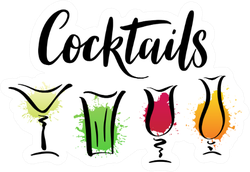 Cocktails Summer Drinks Sticker