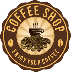 Coffee Shop Badge Sticker