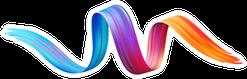 Color Brushstroke Oil Or Acrylic Paint Design Sticker