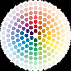 Color Wheel Circle Sticker