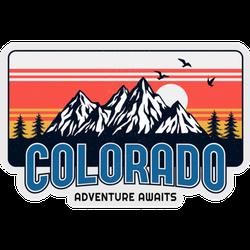 Colorado Adventure Awaits Illustration Sticker