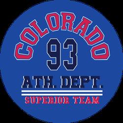 Colorado Ath. Dept. 93 Sticker