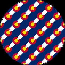 Colorado Flag, Seamless Pattern Sticker