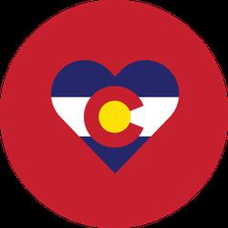 Colorado Heart Shape Love Sticker