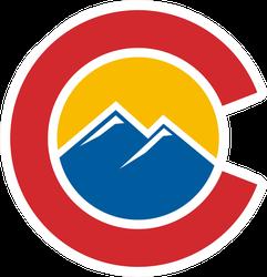 Colorado Logo Circle Sticker