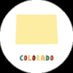 Colorado Map Cute Colorful Sticker