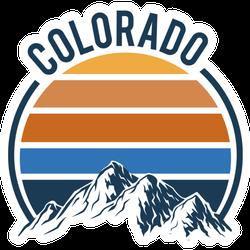Colorado Mountain Art Sticker
