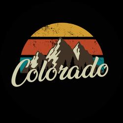 Colorado Mountain Illustration Sticker