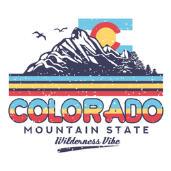Colorado Mountain State Illustration Sticker