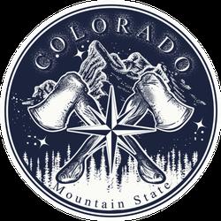 Colorado Mountain State Slogan Sticker