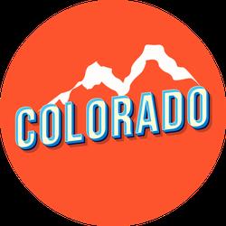 Colorado Orange Mountain Lettering Sticker