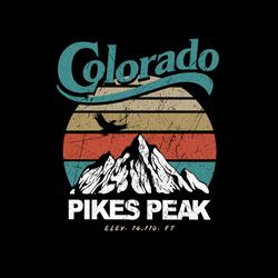 Colorado Pikes Peak Mountain Sticker