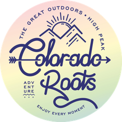 Colorado Roots The Great Outdoors Rainbow Sticker