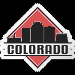 Colorado Skyline Logo Sticker
