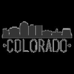 Colorado Springs City Skyline Sticker