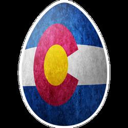 Colorado State Flag Easter Egg Sticker