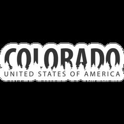 Colorado United States Of America Sticker