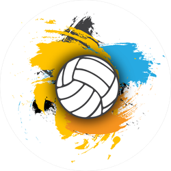Colored Brushstrokes Volleyball Sticker