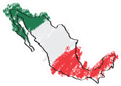 Colored Map Of Mexico Sticker