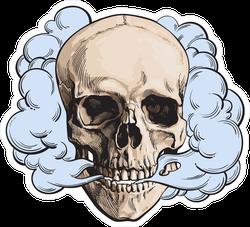 Colored Vape Skull Sticker