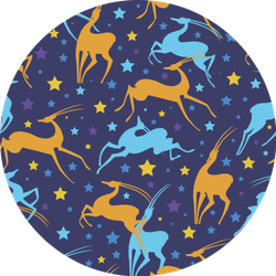 Colorful Antelope Pattern Sticker