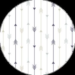 Colorful Arrows Seamless Pattern Sticker