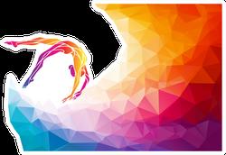 Colorful Art Gymnastics Sticker