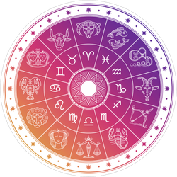 Colorful Astrology Circle Sticker