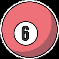Colorful Billiard Ball Icon Sticker