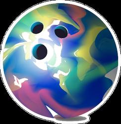 Colorful Bowling Ball Sticker