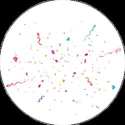 Colorful Bright Confetti Sticker