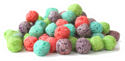 Colorful Cereal Balls In A Pile Sticker