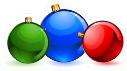 Colorful Christmas Balls Sticker