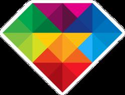 Colorful Diamond Sticker