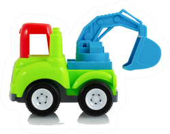 Colorful Digging Tractor Truck Toy Sticker