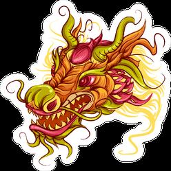 Colorful Dragon Head Sticker
