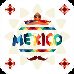 Colorful Ethnic Mexico Sticker