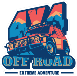 Colorful Extreme Adventure Sticker