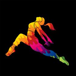 Colorful Female Street Dancer Sticker