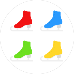 Colorful Figure Skates Sticker