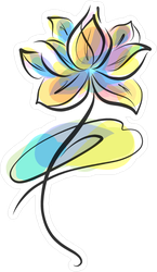 Colorful Flower Sticker