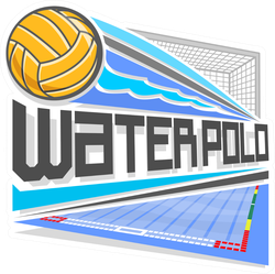 Colorful Flying Water Polo Ball Sticker