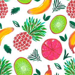 Colorful Fruit Pattern Sticker
