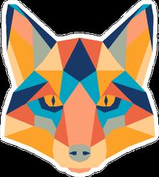 Colorful Geometric Fox Head Sticker
