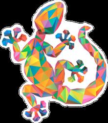 Colorful Geometric Gecko Sticker