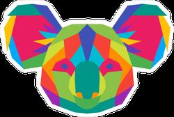 Colorful Geometric Polygon Koala Sticker