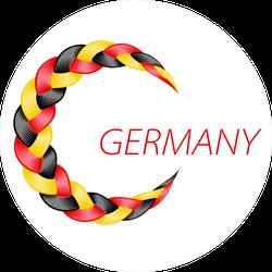 Colorful Germany Flag Braid Sticker