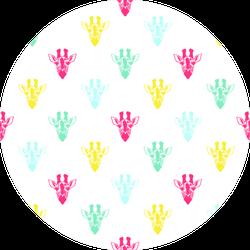Colorful Giraffe Portrait Pattern Sticker
