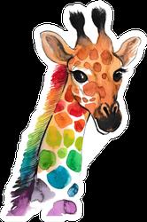 Colorful Giraffe Sticker